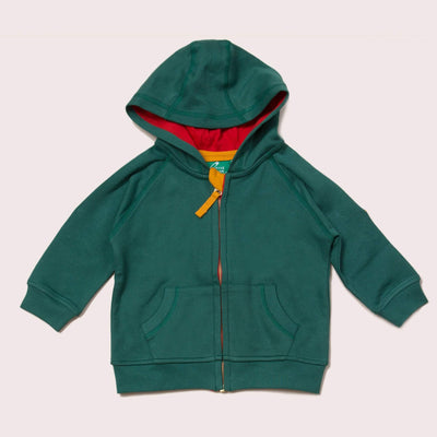Sea Green Zip-Up Star Hoodie