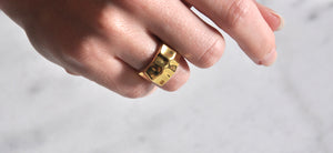 Folded Signet Ring - Goldplated