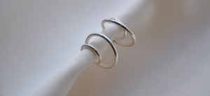 Double Earring - Silver
