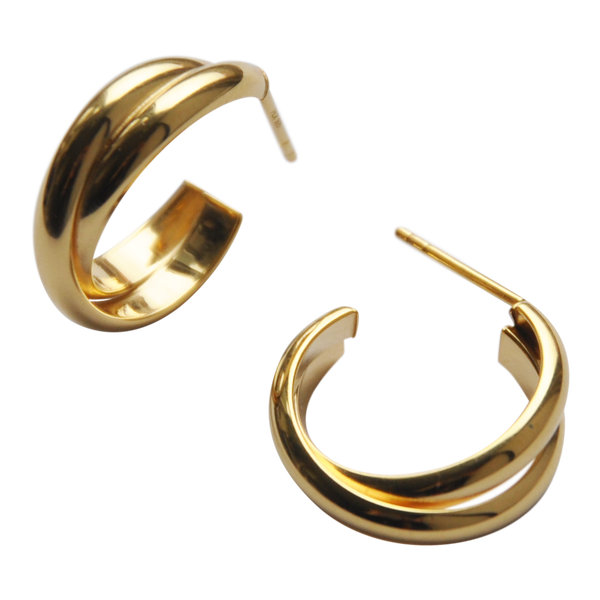 Crossing Hoops - Plateaux Jewellery