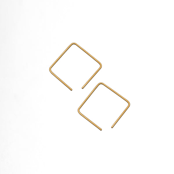 Cube Wire Earrings L