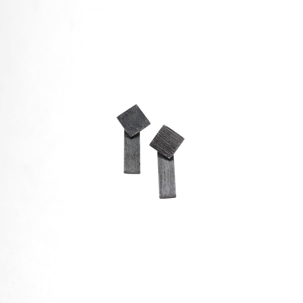 Double Square Earrings - Plateaux Jewellery
