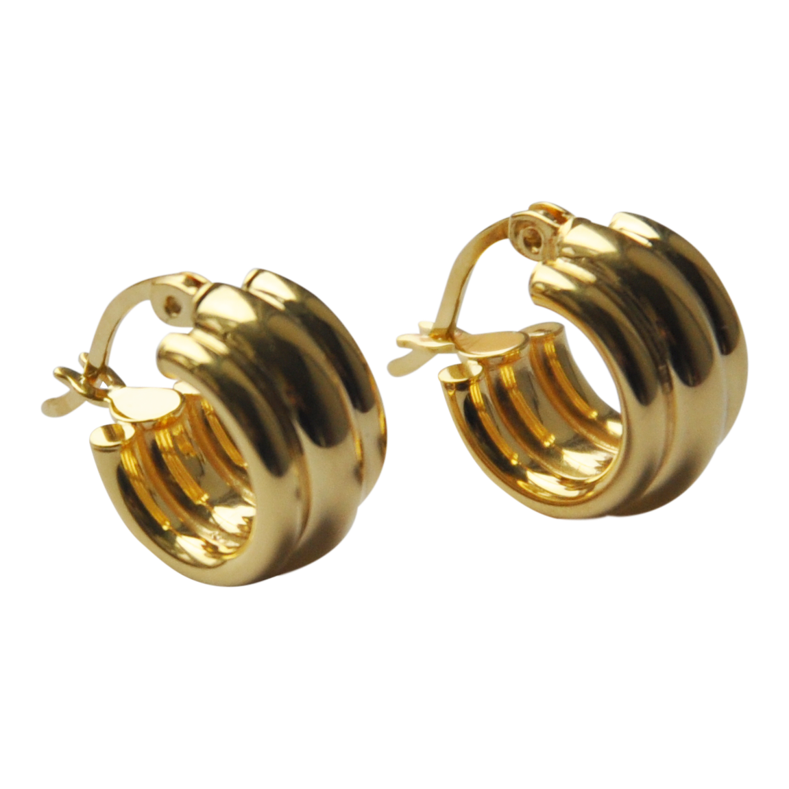 Line Hoops Small - Plateaux Jewellery