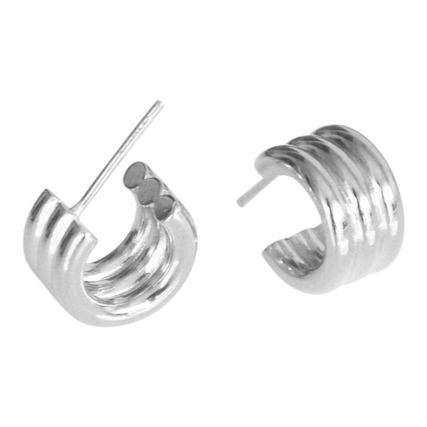 Volume Circle Hoops - Plateaux Jewellery