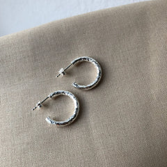 Hammered Hoops - Plateaux Jewellery