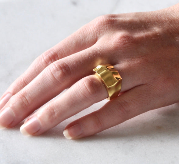 Folded Signet Ring