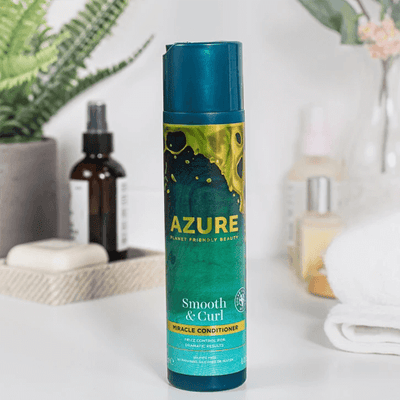 Azure by Planet Friendly Beauty Smooth and Curl Hair Conditioner for Curly Hair vegan and environmentally sustainable haircare