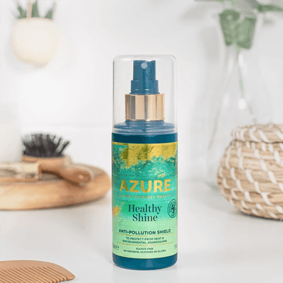 Hair Shine Air Pollution Protection Spray from Azure Planet Friendly Beauty haircare