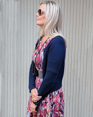 Dagens outfit | Celine cherry blossom & Watch out cardigan night blue