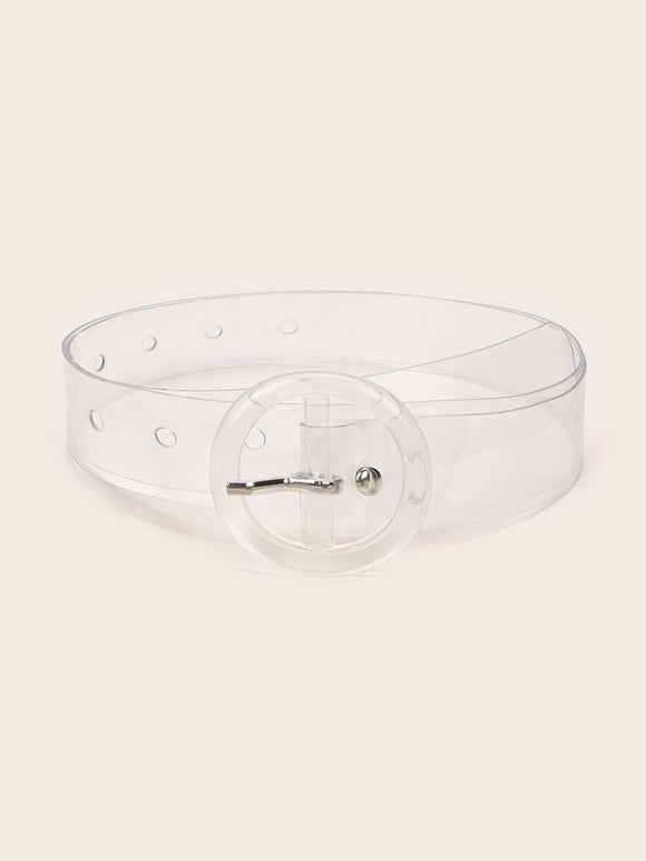 Transparent Round Buckle Belt - shopnsave.pk