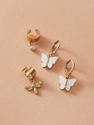 2pairs Bee & Butterfly Charm Earrings Shop n Save Pakistan
