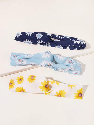 3pcs Daisy Pattern Headband Shop n Save Pakistan