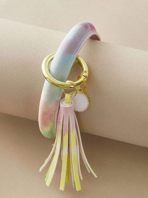 1pc Tassel Charm Tie Dye Bangle - shopnsave.pk