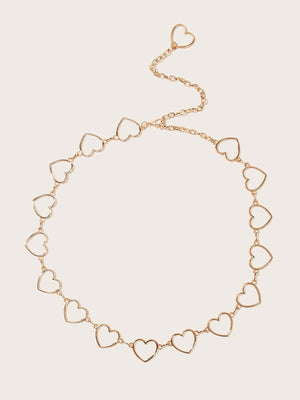 1pc Heart Decor Chain Belt - shopnsave.pk