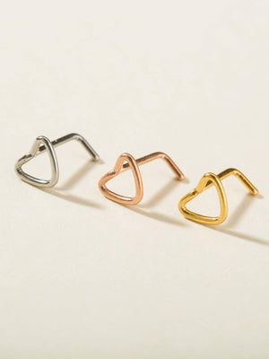 3pcs Heart Design Nose Ring - shopnsave.pk