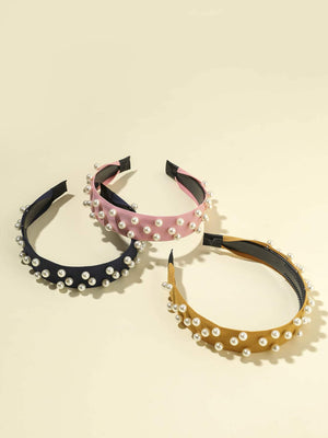 3pcs Faux Pearl Decor Hair Hoop - shopnsave.pk