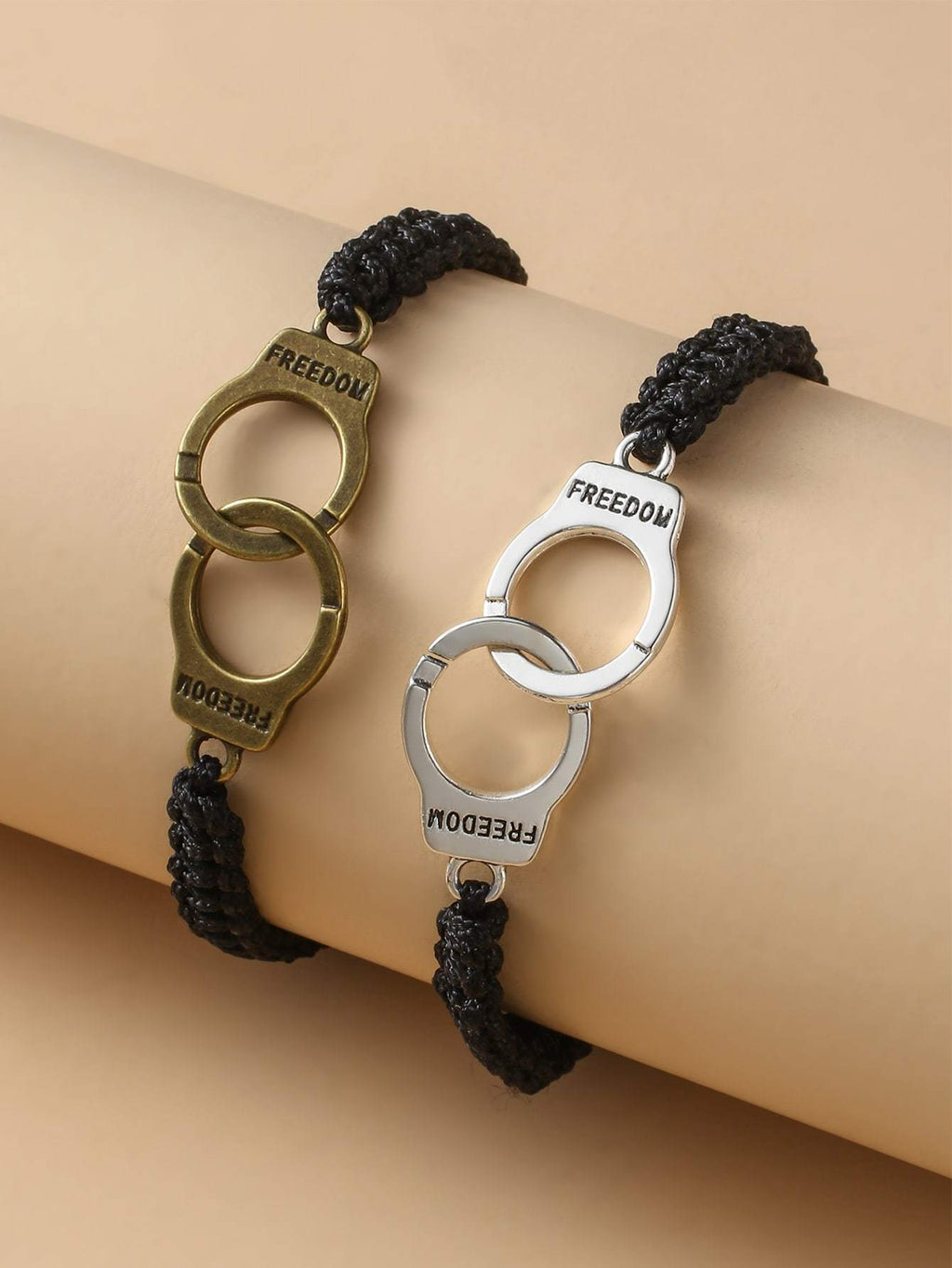 2pcs Handcuffs Decor String Couple Bracelet Shop n Save Pakistan