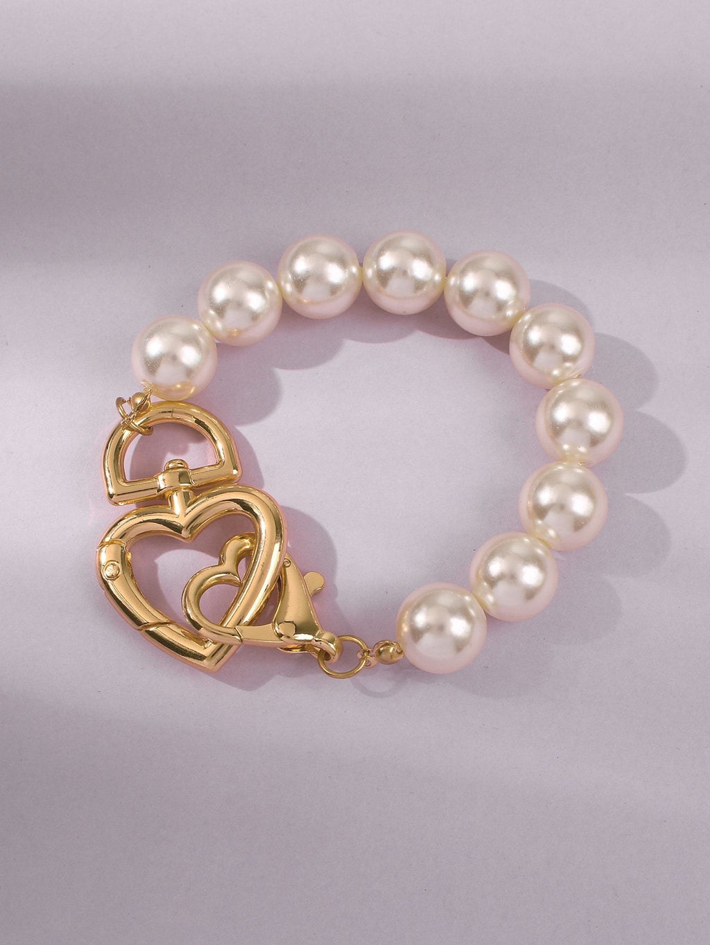 Faux Pearl Heart Decor Bracelet Shop n Save Pakistan