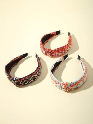 3pcs Plaid Braided Hair Hoop Shop n Save Pakistan