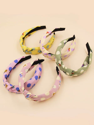 5pcs Polka Dot Pattern Hair Hoop Shop n Save Pakistan