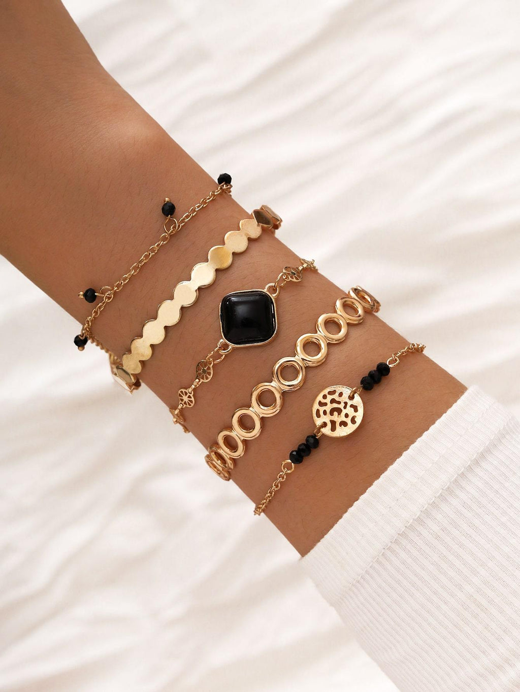5pcs Geometric Decor Bracelet Shop n Save Pakistan