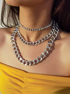 3pcs Simple Chain Necklace Shop n Save Pakistan