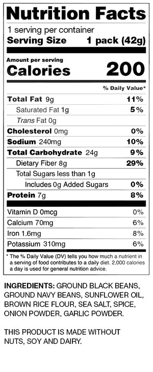 BUSH'S® Sea Salt Bean Chips - Nutritional Information