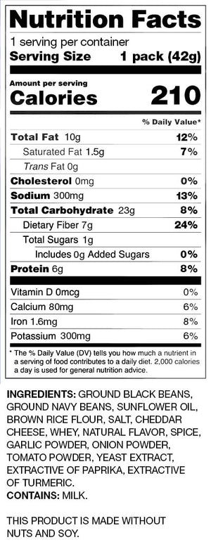 BUSH'S® Spicy Nacho Bean Chips - Nutritional Facts