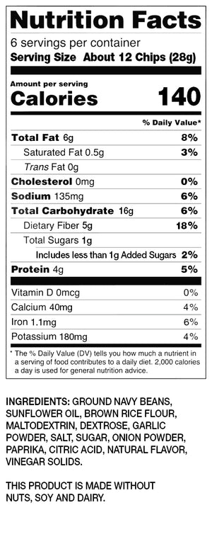 BUSH'S® Chili Lime Bean Chips - Nutritional Information