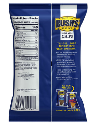 BUSH'S® Chili Lime Bean Chips - Back