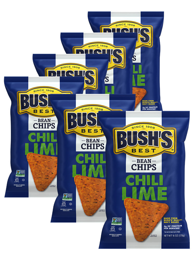 BUSH'S® Chili Lime Bean Chips - Whole Pack