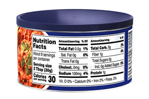 BUSH'S® Original Bean Dip - Nutritional Facts