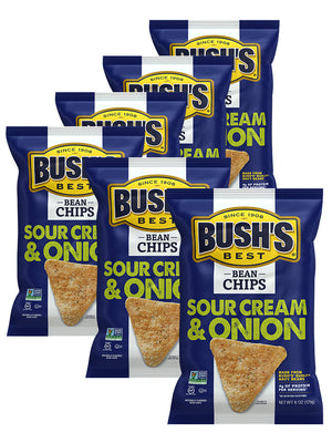 BUSH'S® Sour Cream and Onion Bean Chips - 6 pack