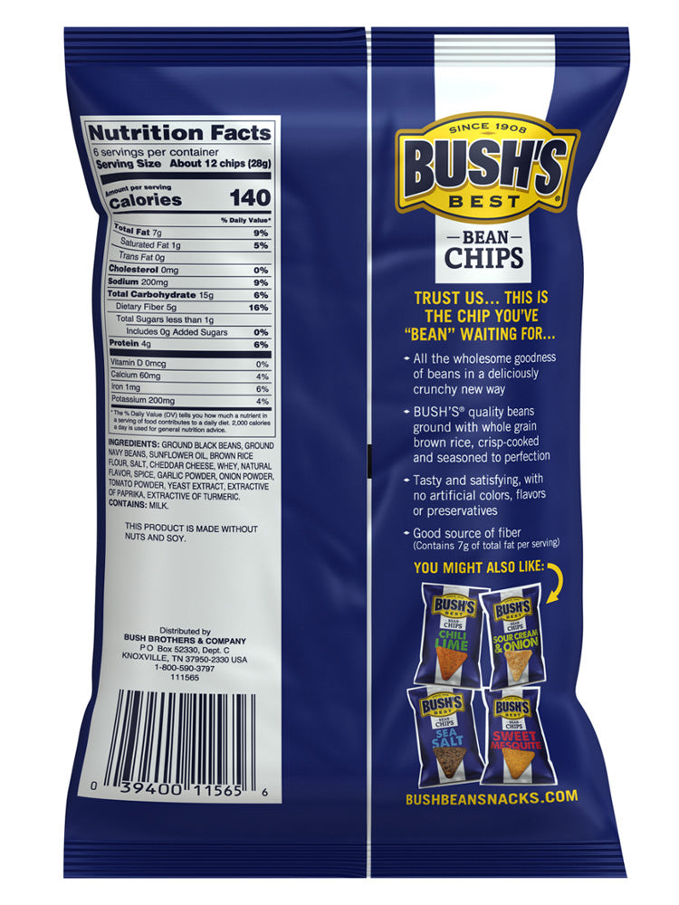 BUSH'S® Spicy Nacho Bean Chips - Back