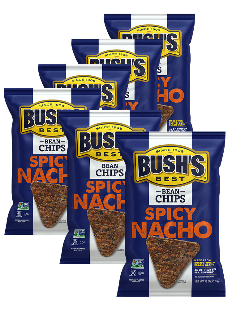 BUSH'S® Spicy Nacho Bean Chips 6 pack