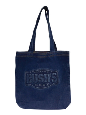 Embossed Denim Tote