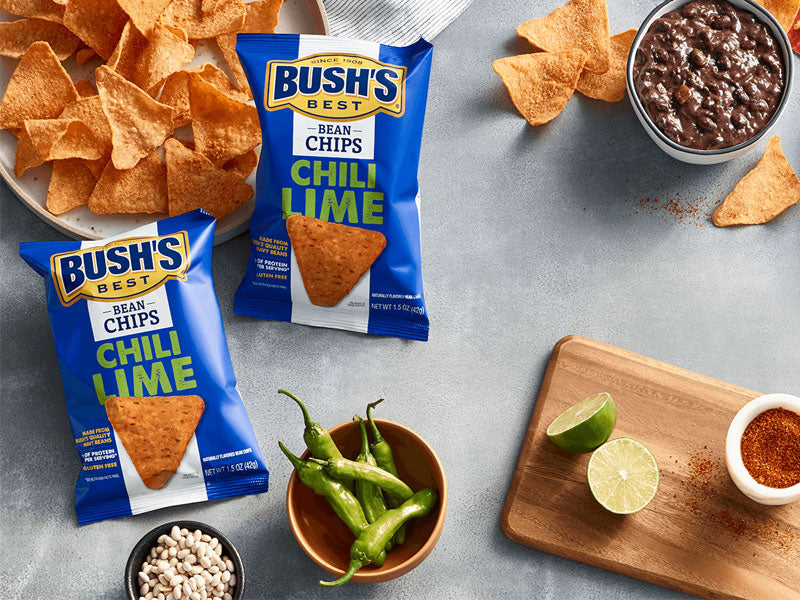 BUSH'S® Chili Lime Bean Chips - Lifestyle