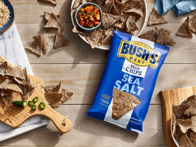 BUSH'S® Sea Salt Bean Chips - Lifestyle