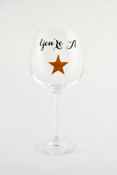 You're A Star Wine Goblet