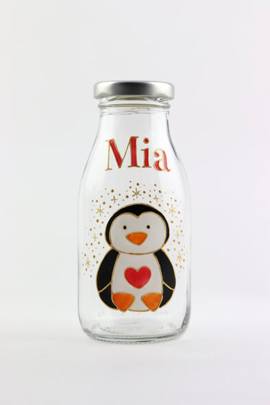 Christmas Mini Milk Bottles
