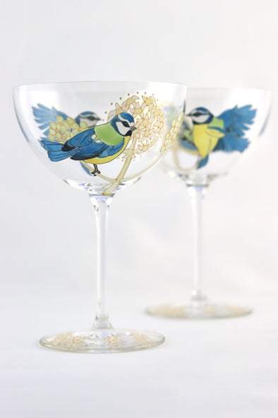 BlueTits Champagne Coupe