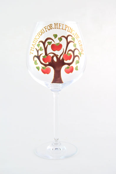 Apple Tree WIne Goblet