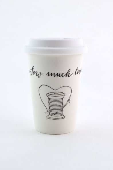 Sew Much Love Travel Cup