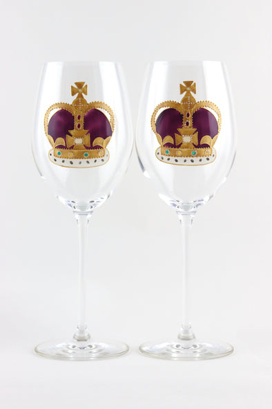 Crown Wine Glasses