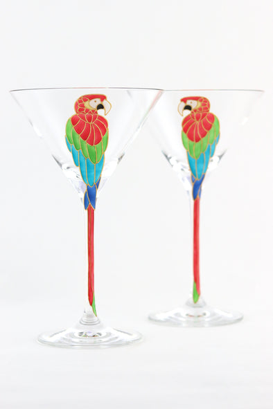 Parrot Cocktail Glasses