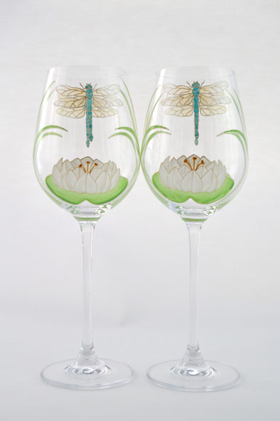 Dragonflies Wine Glass