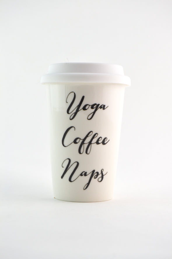 Yoga Coffee Naps Travel Cup