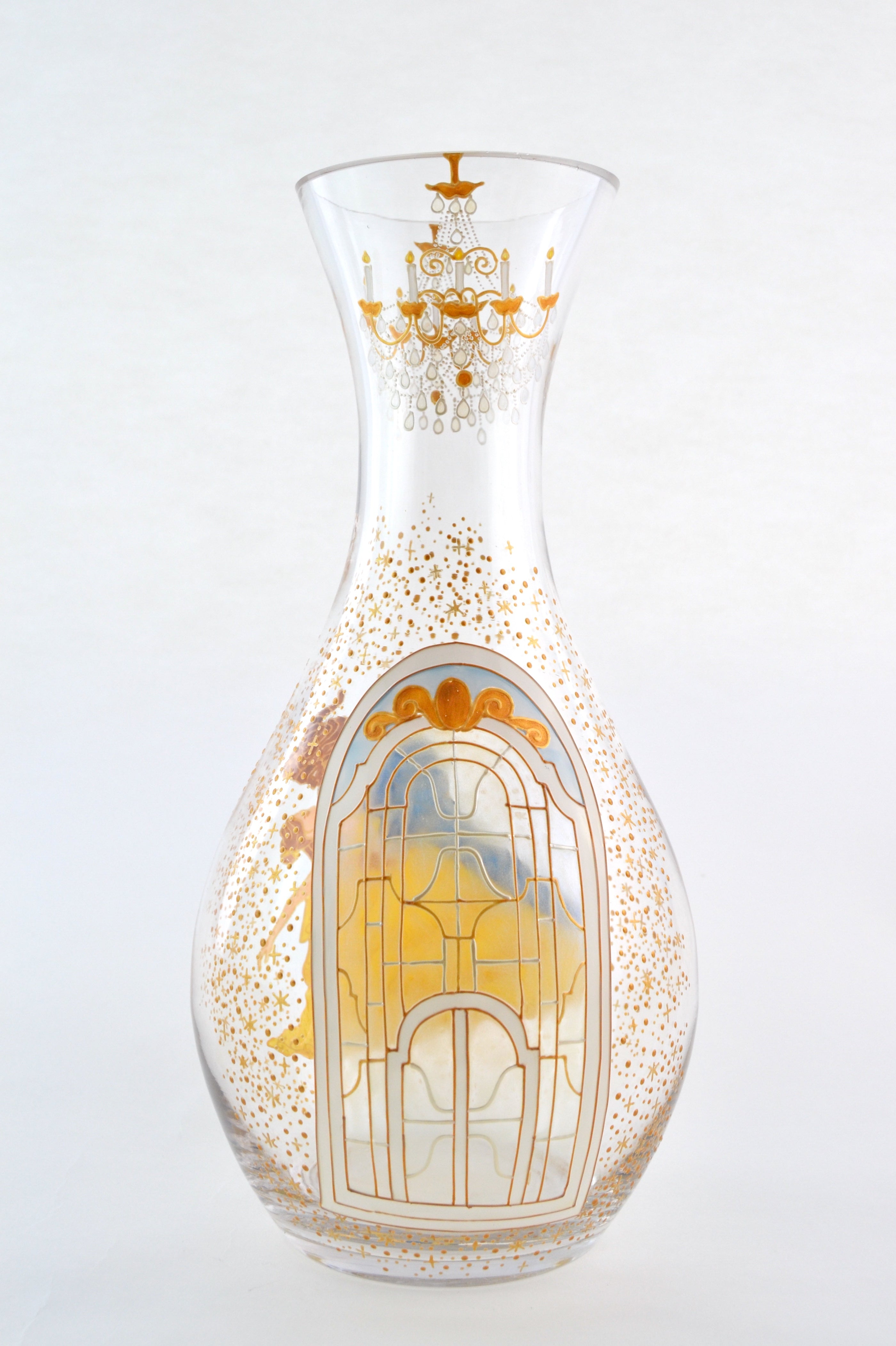 Beauty And The Beast Carafe Vase Toasted Glass