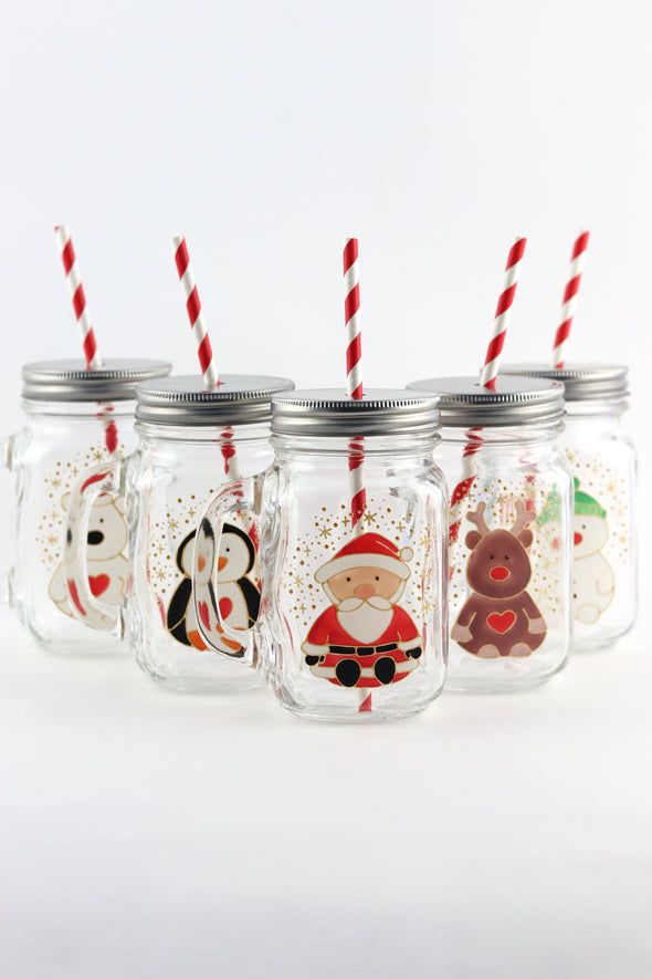 Christmas Drinking Jars