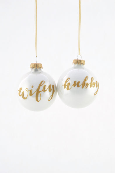 Wifey/Hubby Christmas Bauble